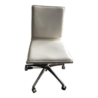ModShop White Leather Office Chair