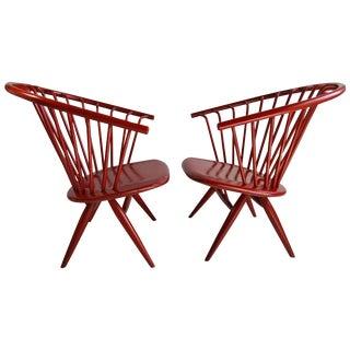 1950s Modernist Ilmari Tapiovaara Crinolette Lounge Chairs - a Pair