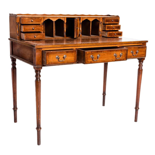 19th Century English Traditional Ladies Writing Table For Sale