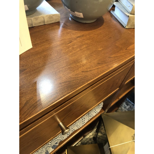 Kenneth Ludwig Chicago Arts and Crafts Sunset Hills Collection Borkholder Cherry Console Table For Sale - Image 4 of 10