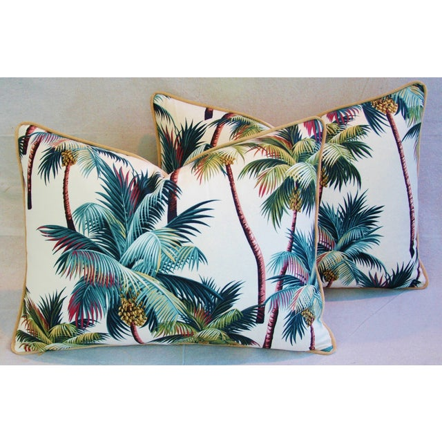Designer Tropical Coconut Palm Tree Pillows - Pair - Image 2 of 10