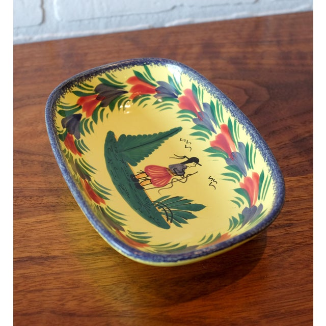 Henriot Quimper Antique French Quimper Hand Painted Tray For Sale - Image 4 of 7