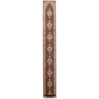 """Traditional Pasargad N Y Tabriz Design Hand-Knotted Runner Rug - 2'8"""" X 22'6"""" For Sale"""