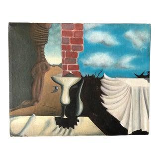 Vintage Surrealist Painting For Sale