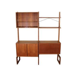 Mid Century Free Standing Cado Shelving System/Wall Unit by Cadovius For Sale