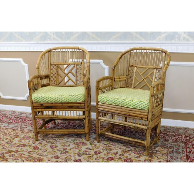 Brighton Style Chippendale Hollywood Regency Bamboo Armchairs- A Pair - Image 6 of 10