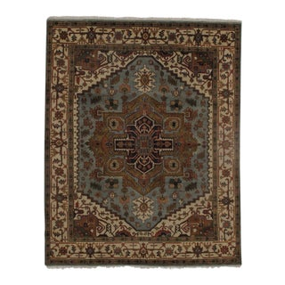 """Pasargad N Y Serapi Design Hand-Knotted Rug - 7'11"""" X 9'10"""" For Sale"""
