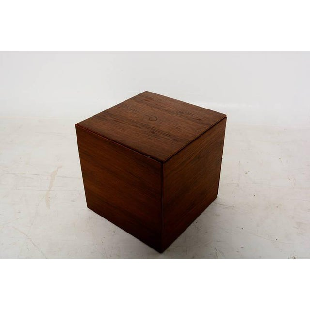 Set of 6 Teak Nesting Tables Poul Nørreklit for Gp Farum Magic Puzzle Cube For Sale In San Diego - Image 6 of 7