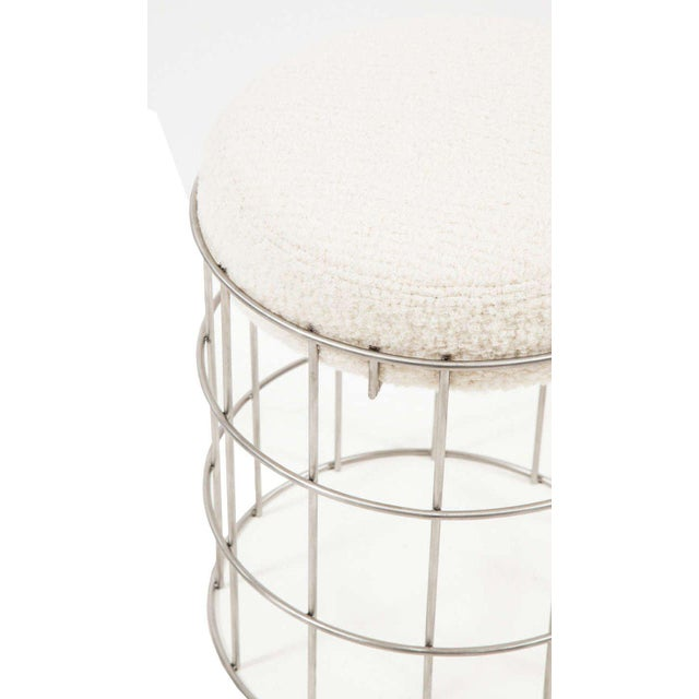Modern Thomas Stainless Steel Stool For Sale - Image 3 of 6