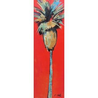 """Crimson Palm"" Original Artwork by Kathleen Keifer For Sale"