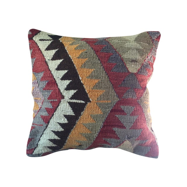 Vintage Turkish Kilim Pillow Cover - Image 1 of 4