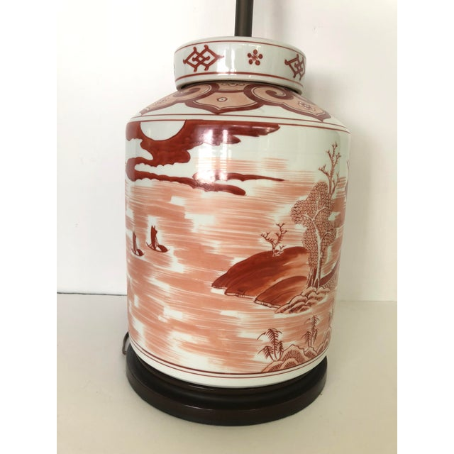 Norman Perry Chinoiserie Ginger Jar Style Lamp For Sale In Tampa - Image 6 of 13