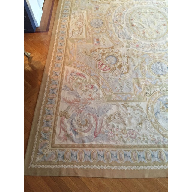 Aubusson French Wool Rug - 9′9″ × 14′2″ - Image 4 of 11