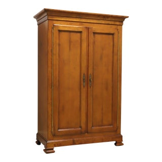 Baker Milling Road Maple Traditional Armoire / Linen Press For Sale