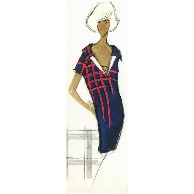 Balmain Shirt Dress Fashion Sketch - Image 1 of 3