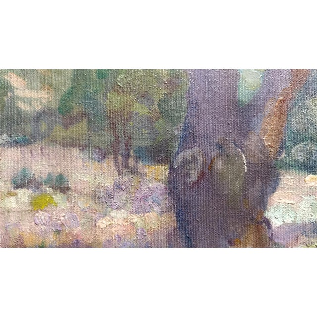 Charles Fries -Oaks & Hills Near Mussey Grade- California Oil Painting For Sale In Los Angeles - Image 6 of 10