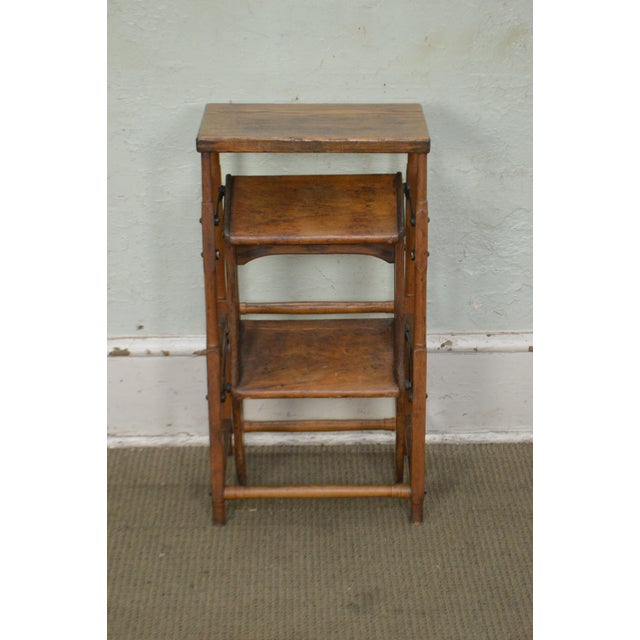 Antique 19th Century Folding Stepping Stool For Sale - Image 4 of 13