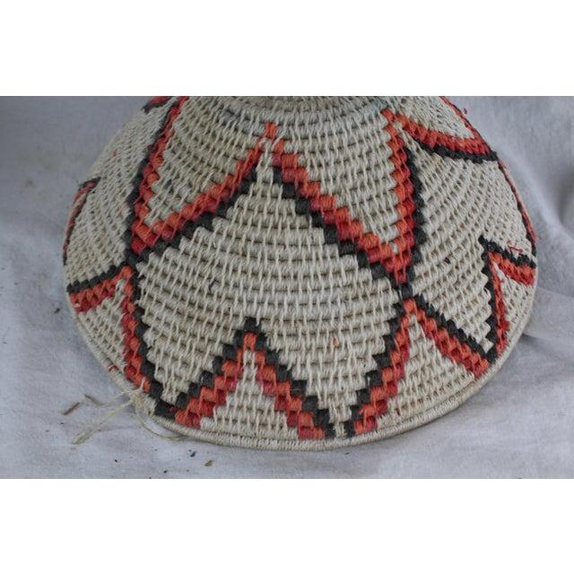 Ghanian Orange Basket For Sale - Image 4 of 8