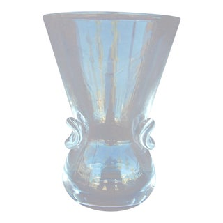 Steuben Traditional Clear Crystal Vase For Sale