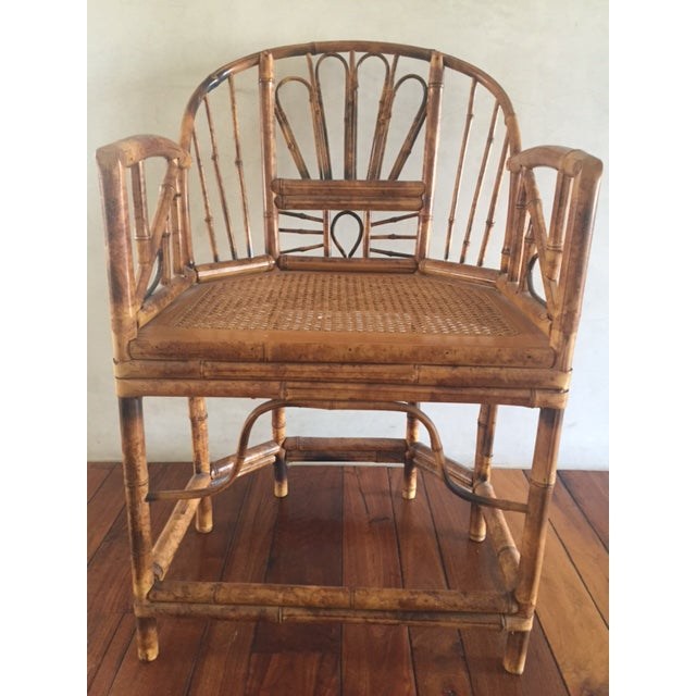 Asian Vintage Bamboo Chinoiserie Accent Chair For Sale - Image 3 of 11