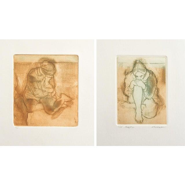 Studio Study #1 & #2 Prints - Pair - Image 1 of 5