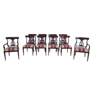 Kindel Neoclassical Mahogany Dining Room Chairs - Set of 10 For Sale
