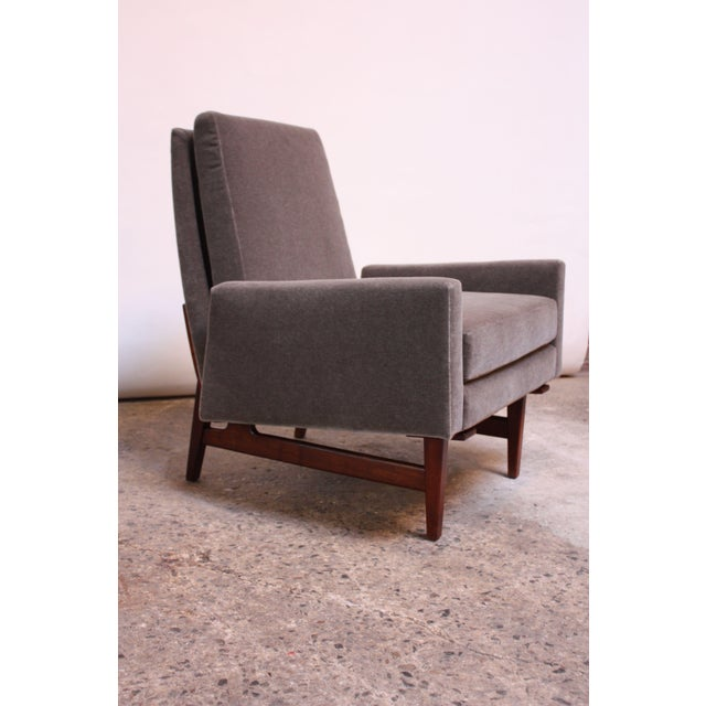 Early Jens Risom Walnut and Mohair Lounge Chair - Image 11 of 11