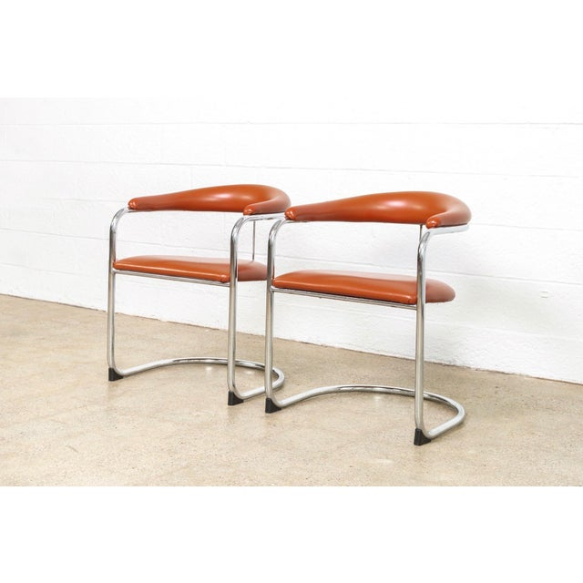 Mid Century Anton Lorenz Cantilever Chairs For Sale - Image 11 of 11