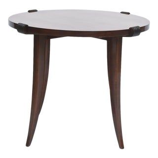French Late Art Deco Rosewood Occasional Table or Gueridon, Maurice Jallot For Sale