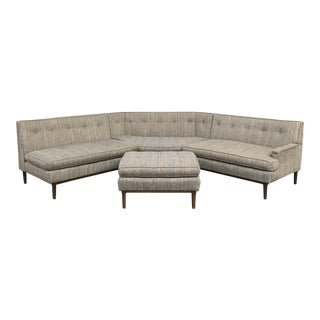Mid-Century Sectional With Ottoman
