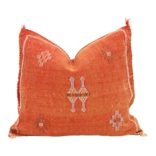 Moroccan Sabra Cactus Silk Pillow Cover For Sale