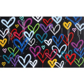 """Amber Goldhammer """"Hearts in Love"""" Original Painting For Sale"""