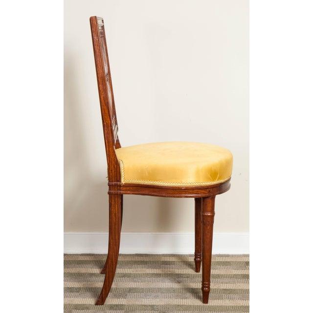 Wood Vintage Mid Century Louis XVI Style Mahogany Side Chairs - Set of 8 For Sale - Image 7 of 10