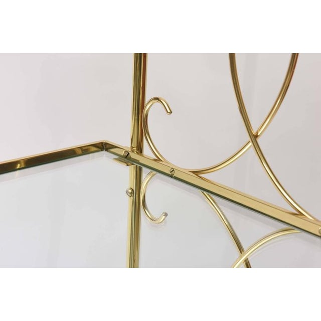 Gold Mid-Century Italian Brass Bar Cart For Sale - Image 8 of 10