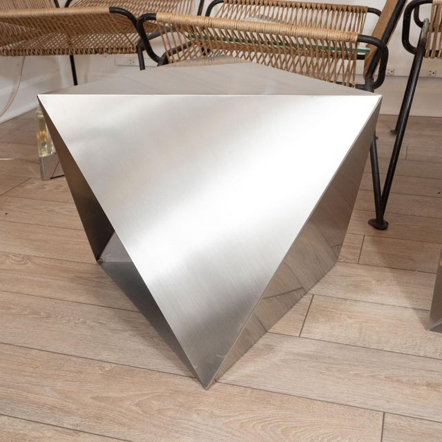 Modular Polyhedron Side Tables by Manfredo Massironi For Sale - Image 4 of 12