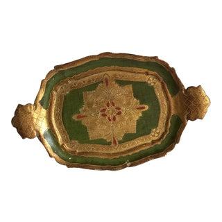 Mid-Century Petite Florentine Tray