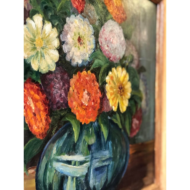 Bright and Cheerful 1940s Floral Still Life For Sale - Image 10 of 13
