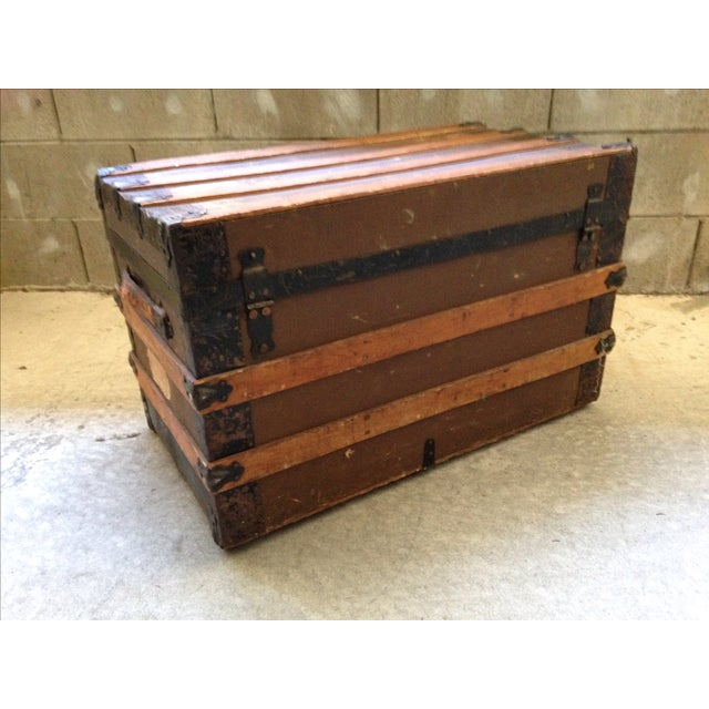 Antique Wells Fargo Stage Coach Trunk For Sale - Image 4 of 9