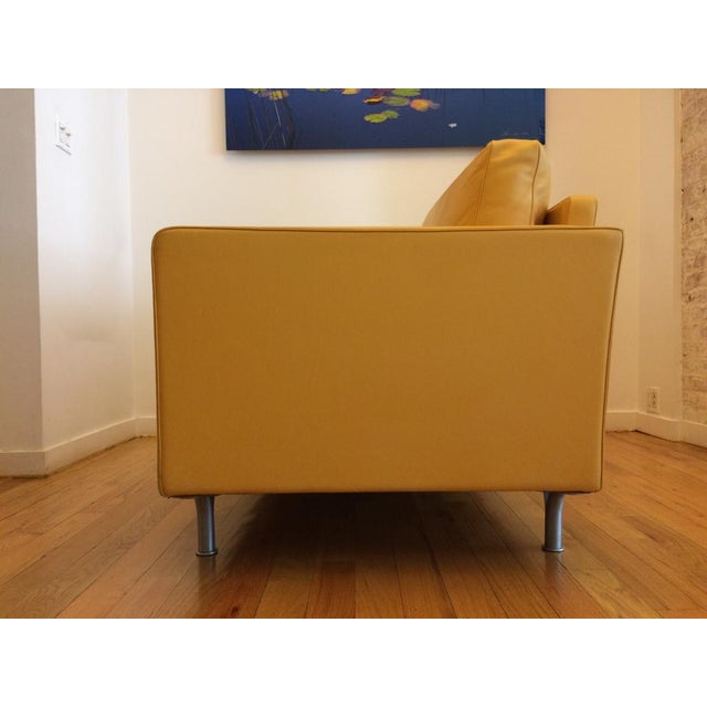 Contemporary Poltrona Frau Prime Quality Yellow Sofa For Sale - Image 3 of 6