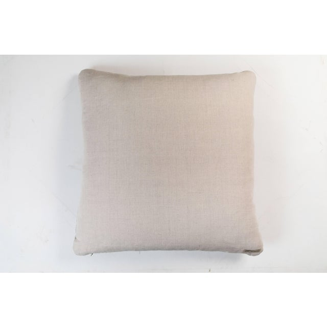 Indian Handwoven Pillow Tree Pale Blue For Sale - Image 4 of 5