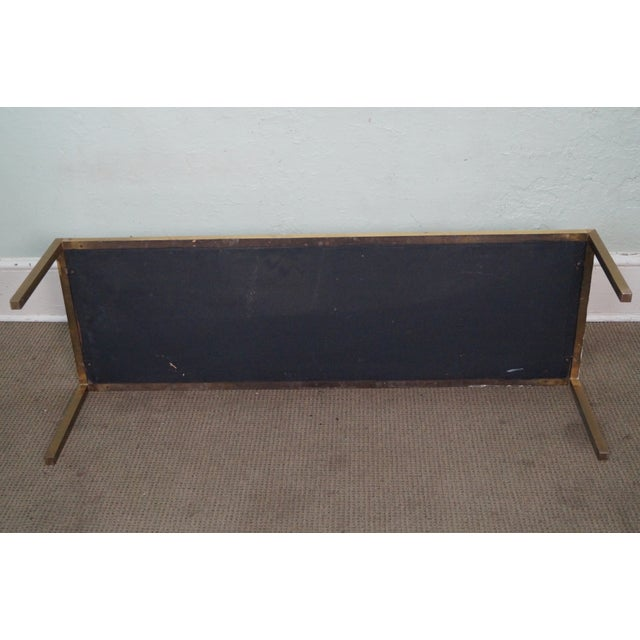 Mid Century Brass Coffee Table with Tile Top - Image 9 of 10