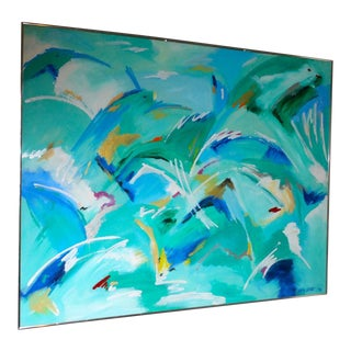 Danish Abstract Seascape by Lotte Linnet For Sale