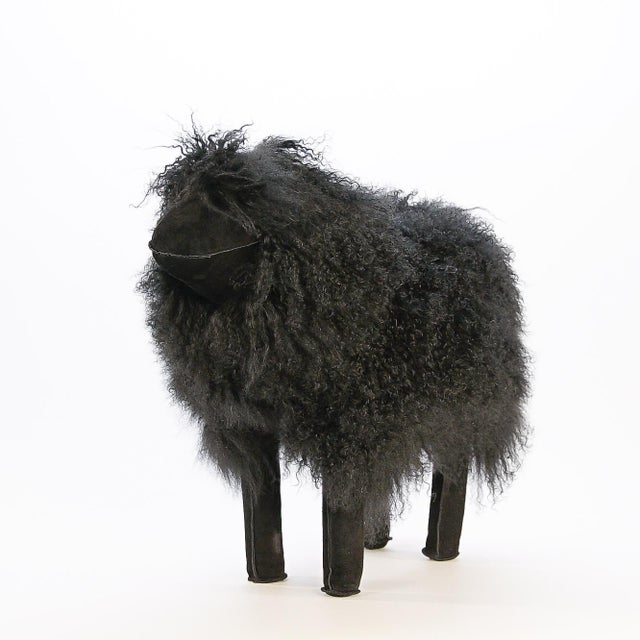 Contemporary Large Black Tibetan Lamb Sheep For Sale - Image 3 of 8