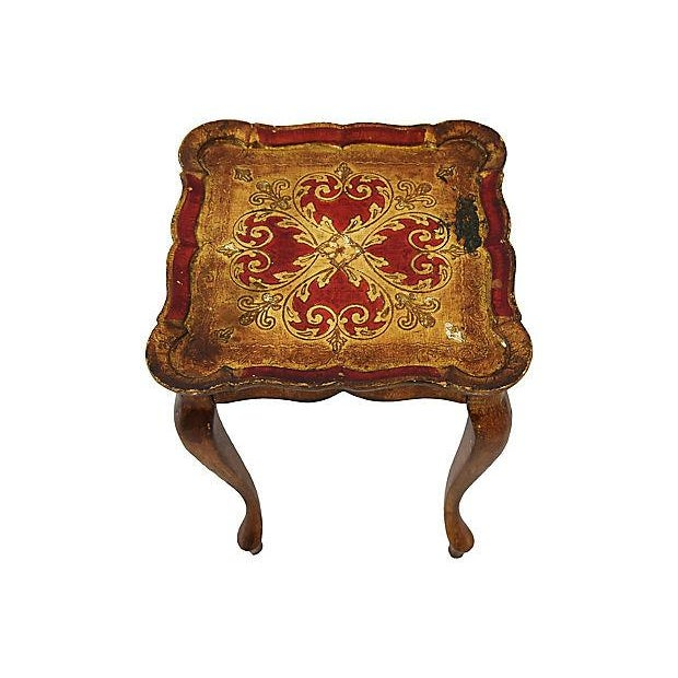 1950s Italian Venetian Florentine Nesting Tables - Set of Three For Sale In Los Angeles - Image 6 of 13