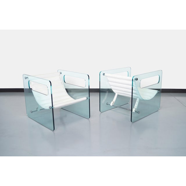 """Early 21st Century Italian """"Naked Glass Lounge Chairs by Giovanni Tommaso For Sale - Image 5 of 10"""