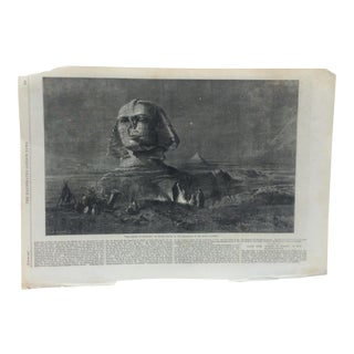 """1862 Antique Illustrated London News """"The Sphinx at Midnight"""" Print For Sale"""