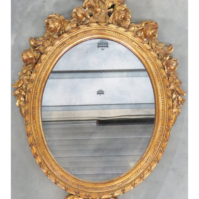 French Style Oval Gilt Mirror - Image 4 of 6