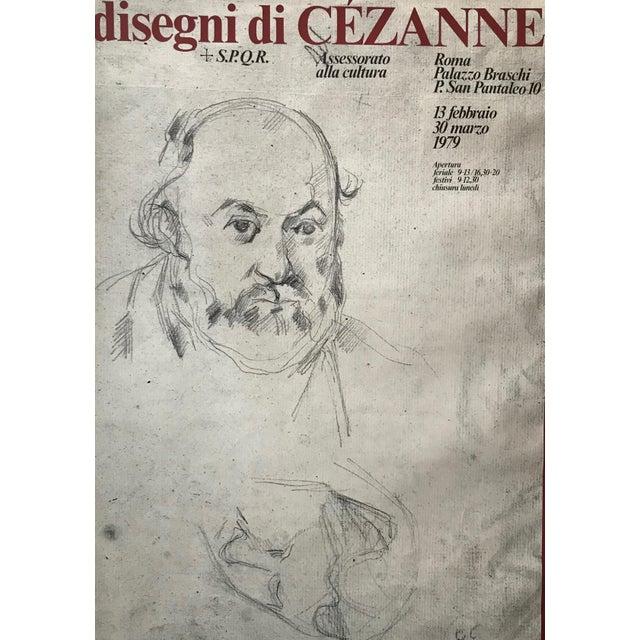 Ecru 1979 Original Italian Cézanne Exhibition Poster, Palazzo Braschi, Rome For Sale - Image 8 of 8