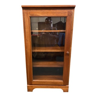 Cherry Finished Media Cabinet For Sale