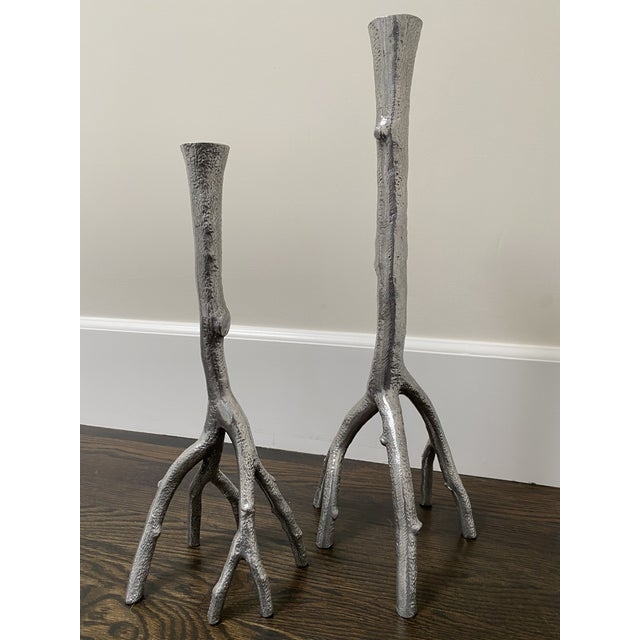 Michael Aram Michael Aram Enchanted Forest Candlesticks - A Pair For Sale - Image 4 of 4